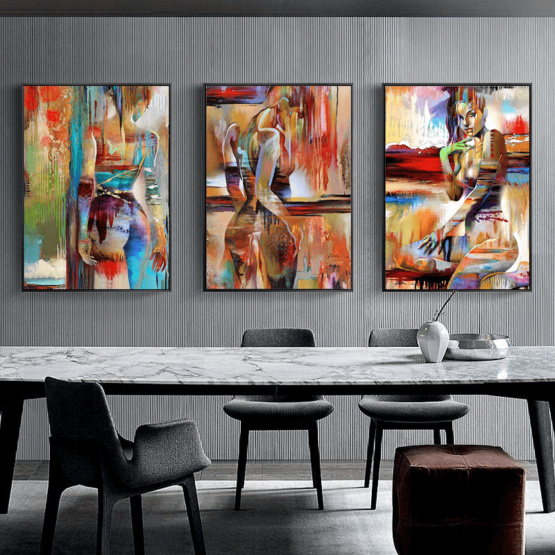 Nordic Abstract Painting Canvas